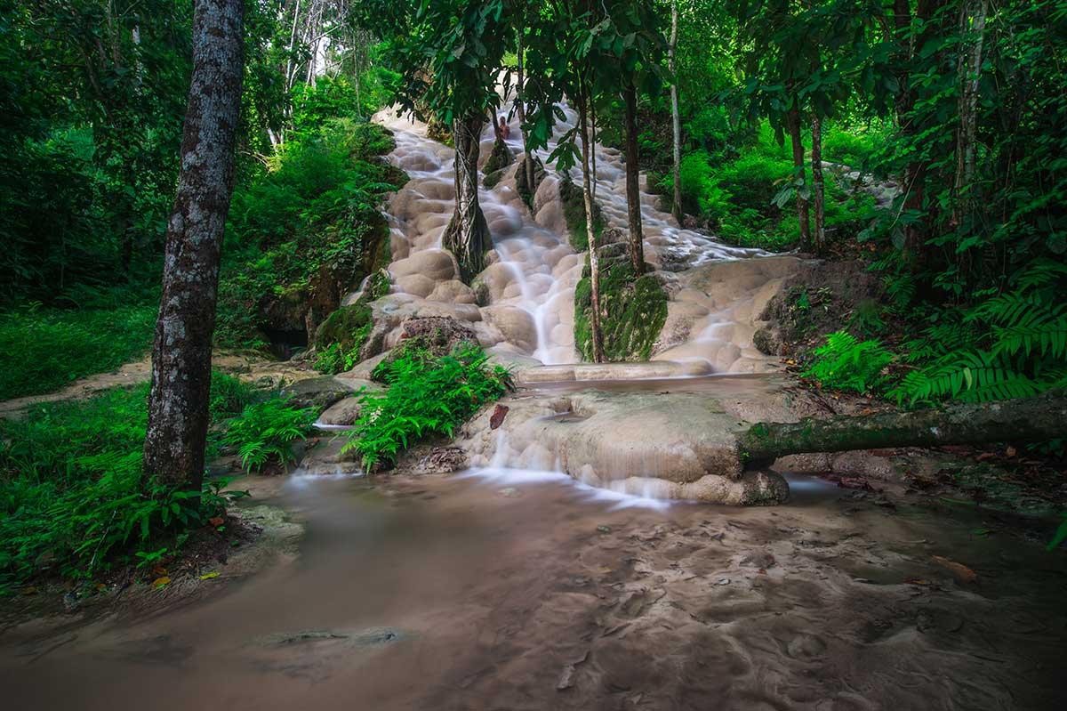 bua tong waterfall thailand
