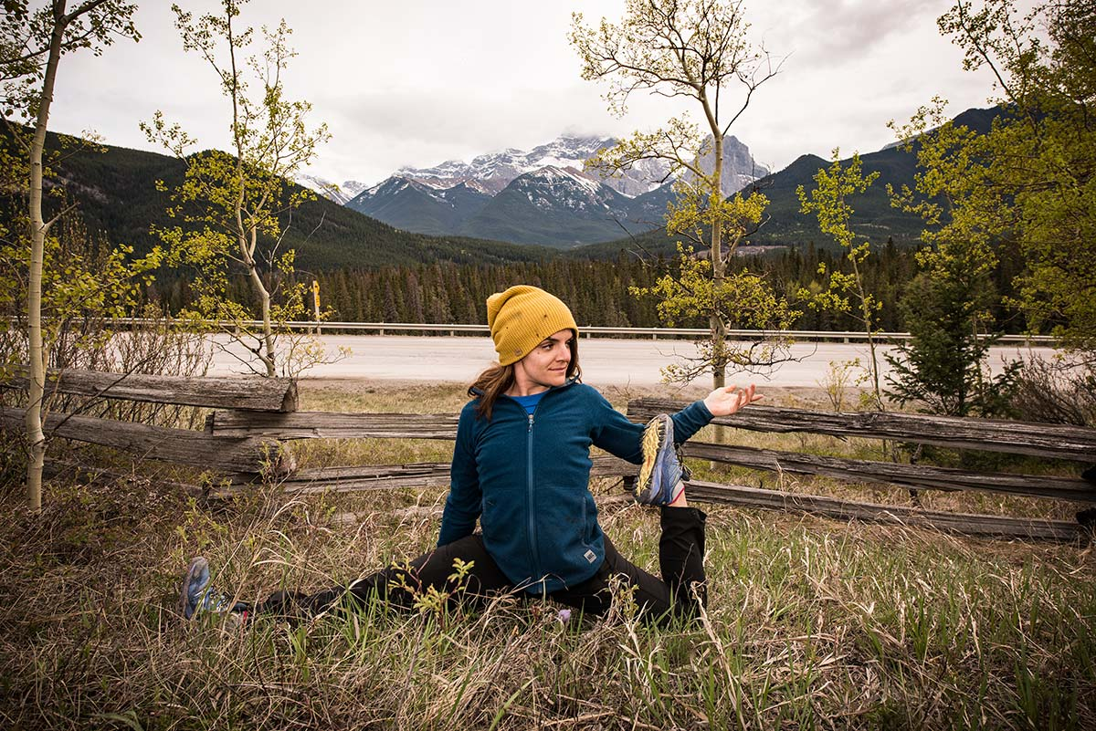 lena yoga pose canmore
