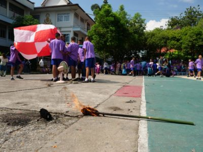 Sixth Graders with Firecrackers: Let the Lantern Festival Begin