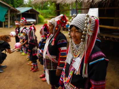 We Were the First Western Group to Meet an Akha Hill Tribe Village