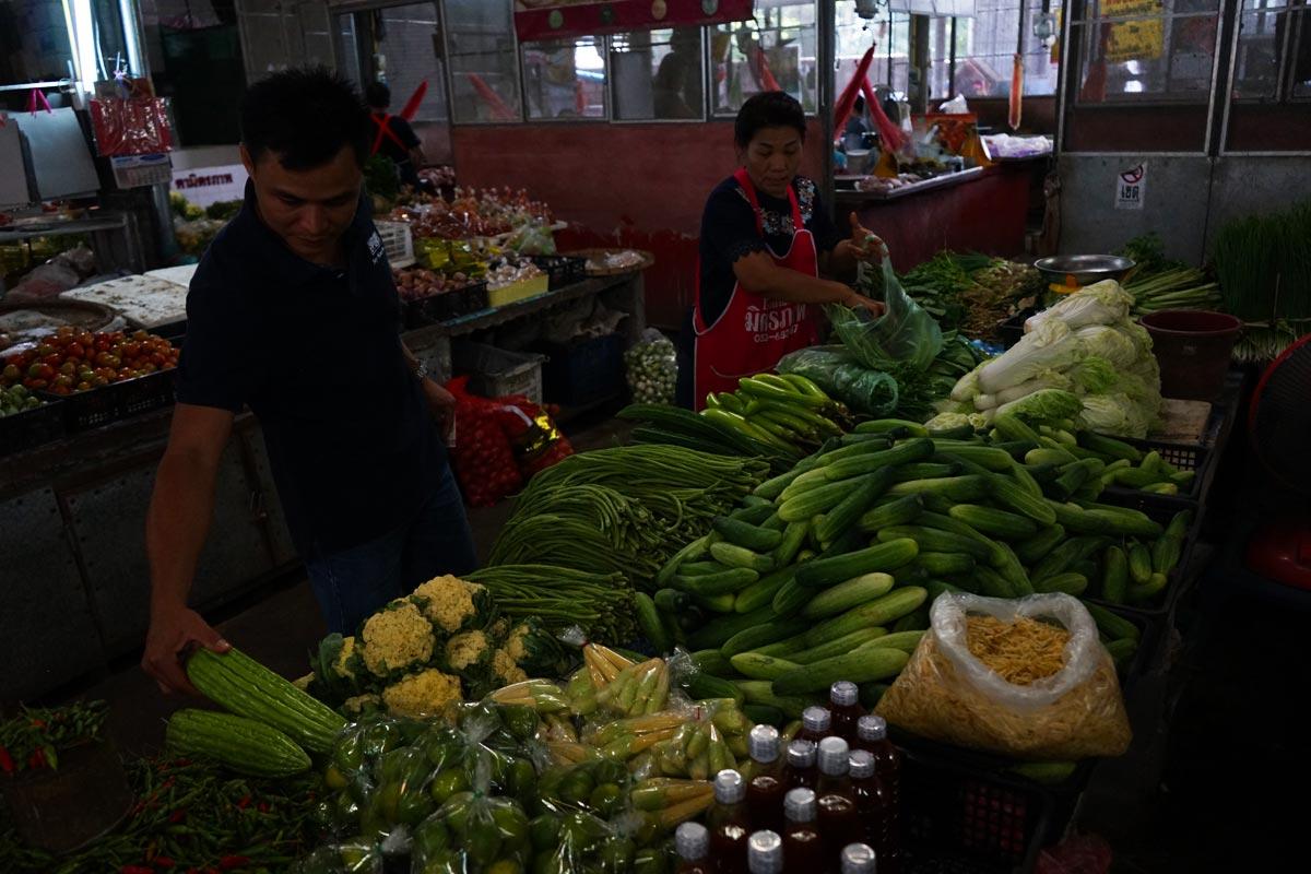 thai vegetable market