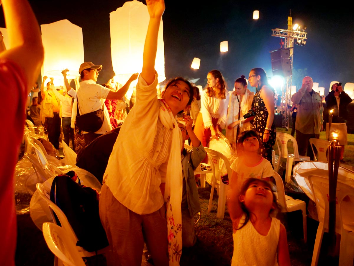 yi peng lantern release photo
